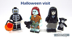 Halloween visit (WhiteFang (Eurobricks)) Tags: lego minifigures cmfs collectable walt disney mickey characters licensed design personality animated animation movies blockbuster cartoon fiction story fairytale series magic magical theme park medieval stories soundtrack vault franchise review ancient god mythical town city costume space
