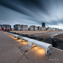 Ostend Blue Hour (Alec Lux) Tags: ostend architecture beach belgium bench blue bluehour breakwater city cityscape coast coastline colorful colors concrete fineart fineartphotography groyne landscape landscapephotography lights longexposure longexposurephotography marine ocean oostende pier pontoon scenic sea seascape seascapephotography sky smooth sunset water waves vlaanderen be
