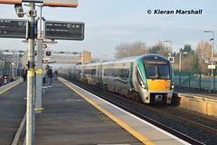 22042 arrives at Hazelhatch, 25/2/19 (hurricanemk1c) Tags: hazelhatchandcelbridge railways railway train trains irish rail irishrail iarnród éireann iarnródéireann 2019 22000 rotem icr rok 4pce 22042