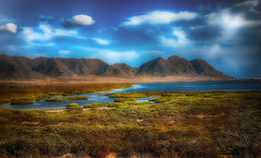 Las Salinas. (Manuel Peña Jiménez) Tags: salinas cabodegata sierra paisaje cielo nubes almeríafujifilmxs1