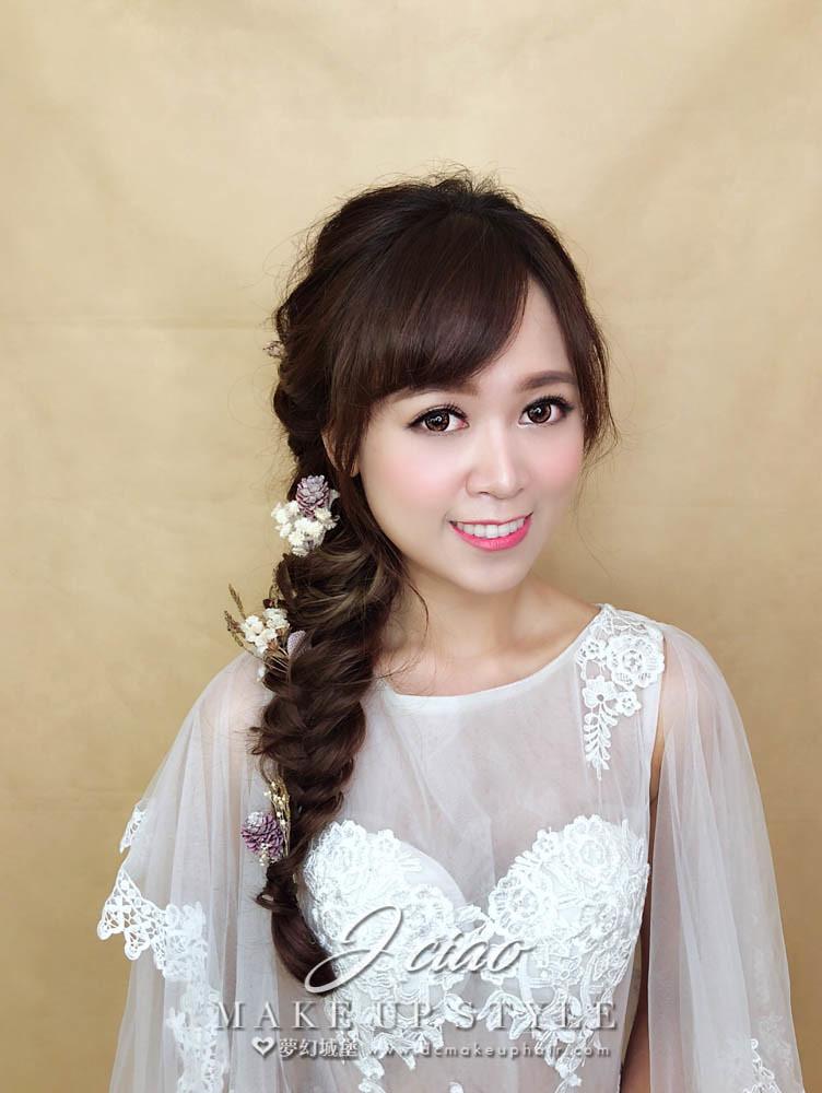 【新秘婕喬】新娘造型創作 / 乾燥花編髮造型