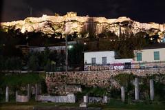 View of the Acropolis from The Roman Forum, Athens (jonk4444) Tags: greece xe2 athens acropolis parthenon romanforum
