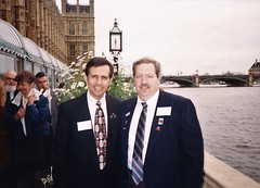 Dave Houle & Jim Duval on the Terrace of the House of Commons (photo courtesy of David W Houle)