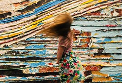 Dissolve (Midoritori2013) Tags: wind rainbow girl paint dissolve blended muted blond