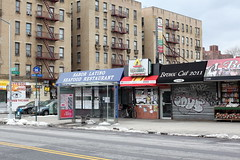 The former Hijazi Hut and neighbors, Parkchester, Bronx (Eating In Translation) Tags: bronx parkchester