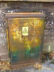 rust (Jackal1) Tags: rust sign warning words metal urban street electricbox abstract decay texture