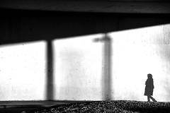 Following her own shadow (jaume zamorano) Tags: blackandwhite blancoynegro blackwhite blackandwhitephotography blackandwhitephoto bw d5500 gente lleida lines monochrome monocromo minimalism muro nikon noiretblanc nikonistas pov people street streetphotography streetphoto streetphotoblackandwhite streetphotograph urban urbana shadow
