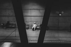 V (Zesk MF) Tags: bw black white mono street candid strase zesk cologne x100f fuji people human sitting waiing frame framing urban