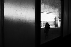 Dirty (stefankamert) Tags: dirty window textures woman light shadows blackandwhite blackwhite lines framed noir noiretblanc ricoh ricohgr grii grain highcontrast street stefankamert