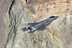RNAF F-35A (dmeg180) Tags: plane airplane aircraft jet military dutch lowlevel jeditarnsition starwarscanyon f35 deathvalley sidewinder r2508 rnaf airforce 323tes