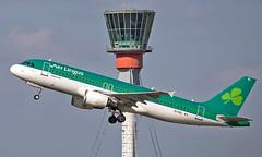 EI-DEL - Airbus A320-214 - LHR (Seán Noel O'Connell) Tags: aerlingus shamrock eidel airbus a320214 a320 heathrowairport heathrow lhr egll dub eidw 27l ei163 ein16c aviation avgeek aviationphotography planespotting atc