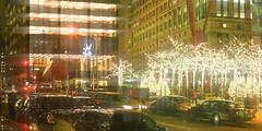 Blurry Zuccotti Park Night (Yuri Dedulin) Tags: newyork newyorkcity yuridedulin blurry zuccotti park night dark city lights lighting manhattan lowermanhattan downtown windows street streetphotography
