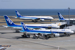 All Nippon Airways, Airbus A321-272N. (M. Leith Photography) Tags: tokyo haneda airport japan jet airliner mark leith photography nikon d7200 70200vrii 200500mm nikkor flying hnd taxiing runway aviation sunny air ana all nippon airways airbus a321 neo