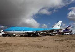 PH-BFD Boeing 747-406 Ex KLM (corkspotter / Paul Daly) Tags: phbfd boeing 747406 b744 24001 737 l4j dkaf 484003 klm kl royal dutch airlines 1989 19890929 2017 kmhv mhv mojave desert storage