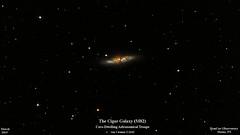 M82_March2019_HomCavObservatory_ReSizedDown2HD (homcavobservatory) Tags: homcav observatory messier m82 m81 cigar galaxy irregular starburst 8inch f7 criterion newtonian reflector losmandy g11 mount gemini 2 control system 80mm celestron shorttube orion ed80t cf f6 apochromatic refractor zwo asi290mc planetary camera autoguider phd2 astronomy astrophotography