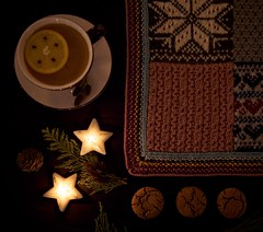 And I welcomed the winter song in. (chris.ph) Tags: stilllife winter mulledcider homemade gingersnaps candles light knitting blanket warm project52 canon6d ef24105mmf4lisusm