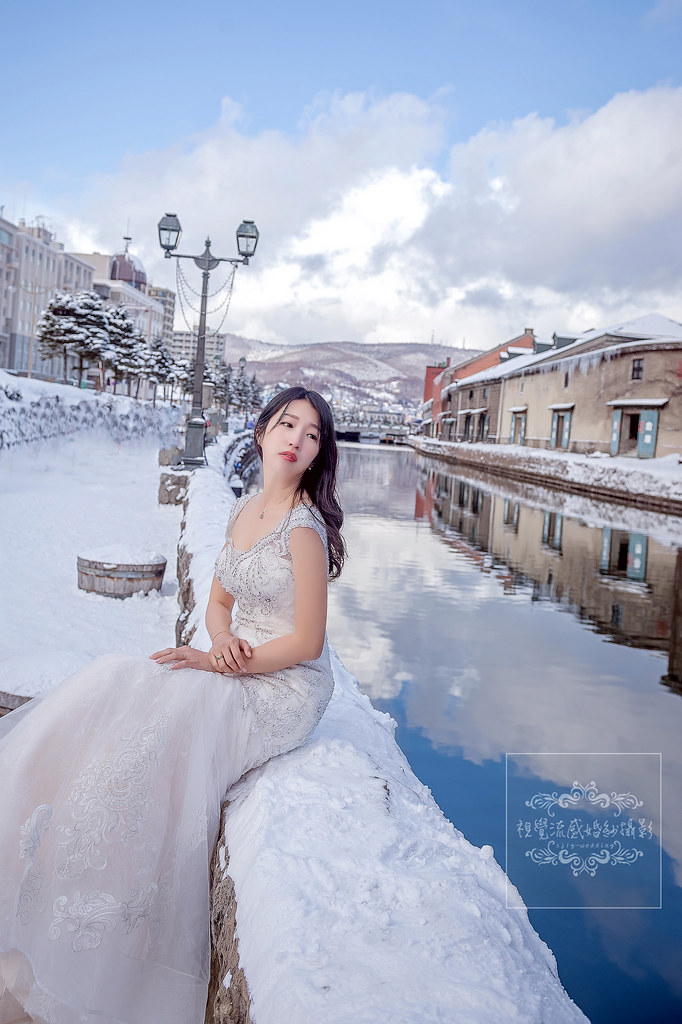 海外婚紗攝影,日本北海道冬季,小樽運河,小樽公園,旭展望台,雪國雪地雪景