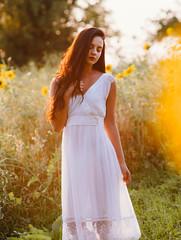 Girl (sylwia_kimla) Tags: sunflowers sunflower girl samyang85 samyang85mm samyang summer polishgirl flowers