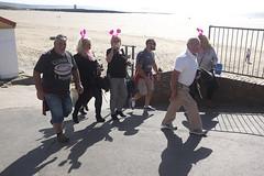 Passing the Beach (kevin Akerman) Tags: sand beach women group elvis festival porthcawl