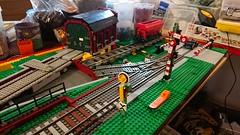 Lokschuppen der Papierfabrik WIP (steve5010) Tags: lokschuppen lego len landscape bahnanlage segmentdrehscheibe