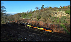 TANKS (fenaybridge) Tags: 56094 56049 robin templecombe 6e32 horbury preston bitumen colas