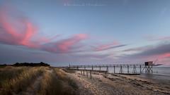 Ocean colors (Bertrand Thiéfaine) Tags: océanatlantique plage sable eau carrelet pêche pêcherie nuages ciel couleurs landes