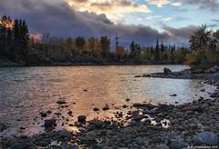 Bow River at Riverfront Park at Sunset, Cochrane, Alberta Canada (PhotosToArtByMike) Tags: cochrane riverfrontpark bowriver sunset cochranealbertacanada canadianrockies albertacanada bowrivervalley townofcochrane rockymountains mountain mountains calgary alberta