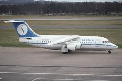 OO-MJE Edinburgh 6-3-1992 (Plane Buddy) Tags: oomje bae 146 airmeuse sabena edi edinburgh