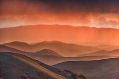 rain shower at sunset (Marc Crumpler (Ilikethenight)) Tags: usa landscape california bayarea sfbayarea eastbay alamedacounty livermore morganterritory marccrumpler eastbayregionalparkdistrict ebparksok ebrpd sunset rain clouds shower hills canon canon6d 6d 70300mmf456lisusm