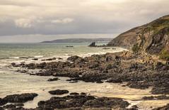 Cornish coast near Portwrinkle (Baz Richardson) Tags: cornwall coast whitsandbay looe cliffs rockshelfs shagrock downderry