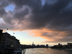 Evening sky (__ PeterCH51 __) Tags: basel rhein river rhine switzerland evening sky iphone peterch51 dusk sunset