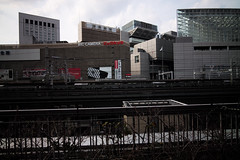 Yurakucho (hidesax) Tags: yurakucho tokyo japan buildings railroad trains cityscape hidesax leica m240 voigtlander colorskopar 21mm f35