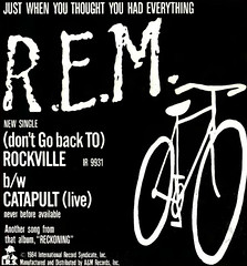 "R.E.M. ""(Don't Go Back To) Rockville"" single 1984 magazine ad (80snyradioscrapbook) Tags: ad single rockville 1984 rem"