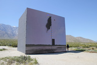 "John Gerrard, ""Western Flag,"" in Palm Springs"