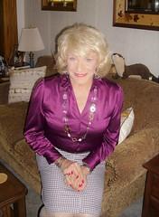 In Secretarial Garb . . . (Laurette Victoria) Tags: skirt blouse necklace woman laurette blonde cecretary