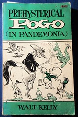 Prehysterical Pogo In Pandemonia by Walt Kelly 5639 (Brechtbug) Tags: pogo possum soft cover news strip cartoon books walt kelly vintage 1950s 50s 1960s 60s albert alligator churchy la femme turtle newspaper comic comics sunday funnies comicstrip opossum animal humor funny beast fable political satire witty southern okefenokee swamp critters south compilation collection alarm scare scared animation character posted 2019