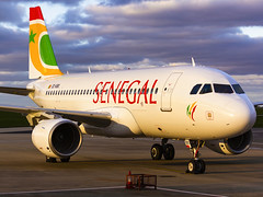 Air Senegal | Airbus A319-111 | EC-KBX (MTV Aviation Photography) Tags: air senegal airbus a319111 eckbx airsenegal airbusa319111 airlivery 6vamb norwich norwichairport nwi egsh canon canon550d sunset golden africa 319 sun gold