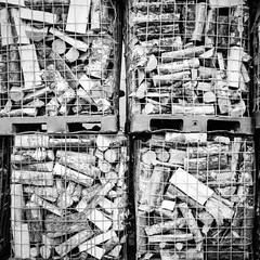 stacked up (chipsmitmayo) Tags: mamiya c330 professional f kodak tx 400 film analog sekor 80mm f28 mittelformat medium format square quadrat 120 6x6 schwarzweiss blackandwhite labor sauerland hsk wasserfall bestwig holz wood feuer handel kubikmeter käfig