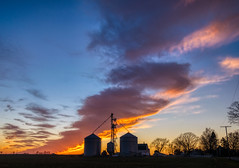 In our rush to capture this sunset.... (tquist24) Tags: goshen hdr indiana nikon nikond5300 outdoor clouds evening farm field outside rural sky sunset tree trees