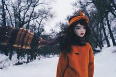 winter river III (AzureFantoccini) Tags: bjd abjd balljointeddoll zaoll luv doll dollmore winter russia nature portrait snow snowfall