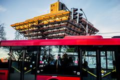bus (Petterko) Tags: bratislava red color slovensko slovakia zeiss carlzeiss e loxia235 availablelight street