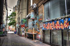 Glass and Brick (HWW) (13skies) Tags: hww glass windows bricks paint colour color lovely talented art graffiti graffitialley canont3i hdr torontoon spadinaave walking highdynamicrange tones windowwednesday happywindowwednesday happywallwednesday walls visual creative