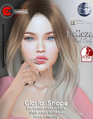 Gloria Shape For Bento Genus Project Classic (Ethereal by Marzia Farrasco) Tags: genusproject skinfair2019 secondlife bento mesh event shape