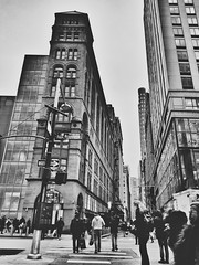 Broadway, Here we come! [Explore] (LAKAN346) Tags: bw bnw minimalistic shadow pov nyc newyorkcity downtown manhattan streetphotograhy architecture