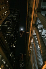 Cipriani (wwward0) Tags: cc columns fidi financialdistrict flag manhattan moon night nyc outdoor tower wallst wwward0