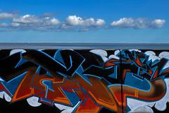 sea wall street-art (Mallybee) Tags: fuji fujifilm xt3 apsc xtrans xmount mallybee fujinon 18135mm ois zoom f3556 street art grimsby great sea wall defence humber estuary colour colourful outside