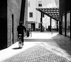 Follow the light (Carlos Lacano) Tags: street bw black white light contrast canon eos m50 7artisans 55mm carlos lacano roermond netherland germany