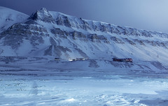 Sleepless in Svalbard (yan08865) Tags: svalbard winter cold mountain solitude landscapes travel pavlis arctic norway longyearbyen isomnia earth snow night photographers ice blue water cliff nordic sigma wide canon