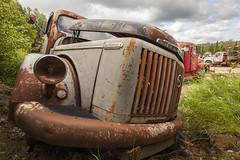 Rusty scrap truck (Burminordlicht) Tags: rusty abandoned truck scrap junk scrapyard volvotitan old rust oldtruck volvotruck titan schrott schrottplatz lkw schweden