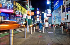 City Lights (Steve Lundqvist) Tags: new york usa states united america manhattan stati uniti travel trip viaggio urban city urbanscape ny nyc mood street road crossroad streetphotography square nikon d700 frame night lights billboard times